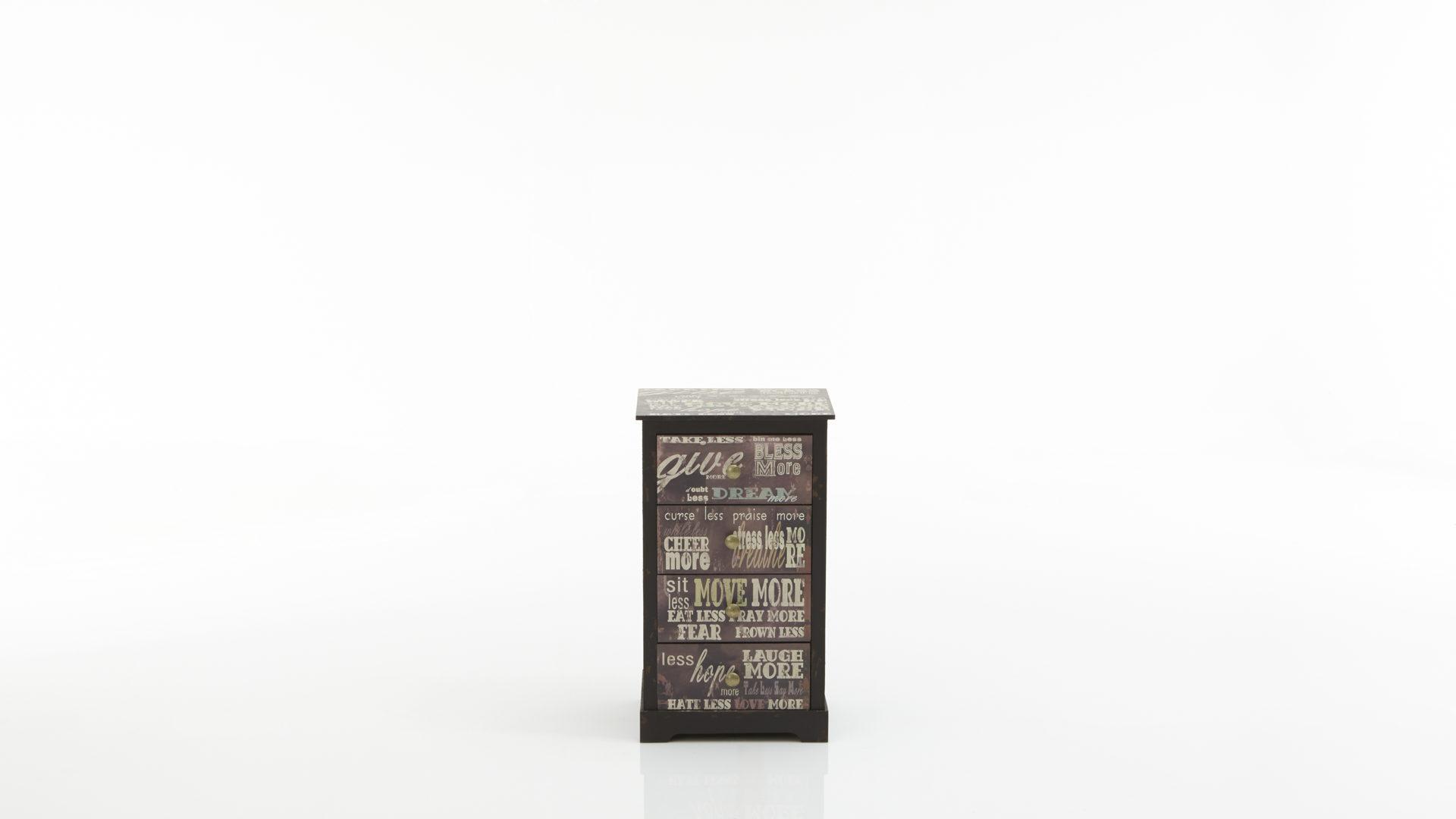 Schubladenkommode Als Garderobenmobel Vintage Print Schwarze Bad