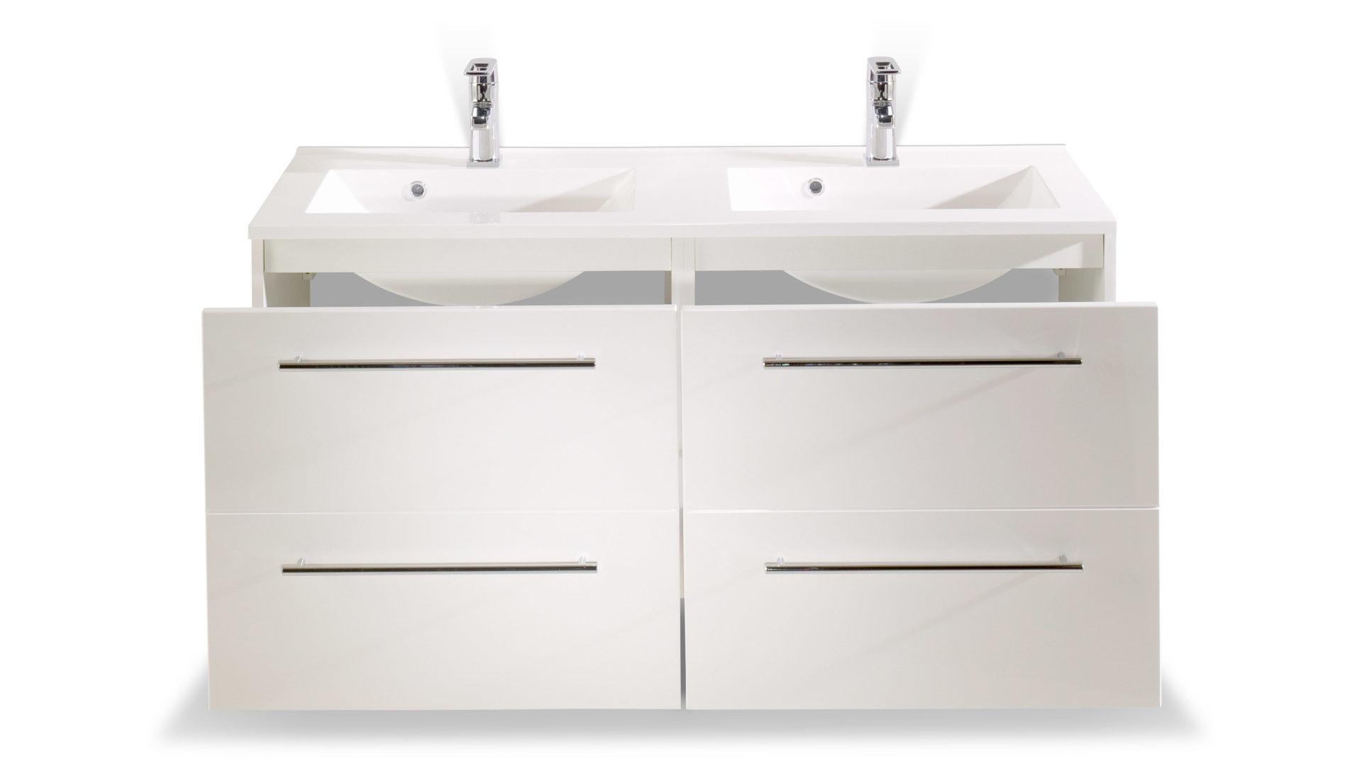 Waschtisch-Set Mailand als modernes Badezimmermöbel , weiße ...