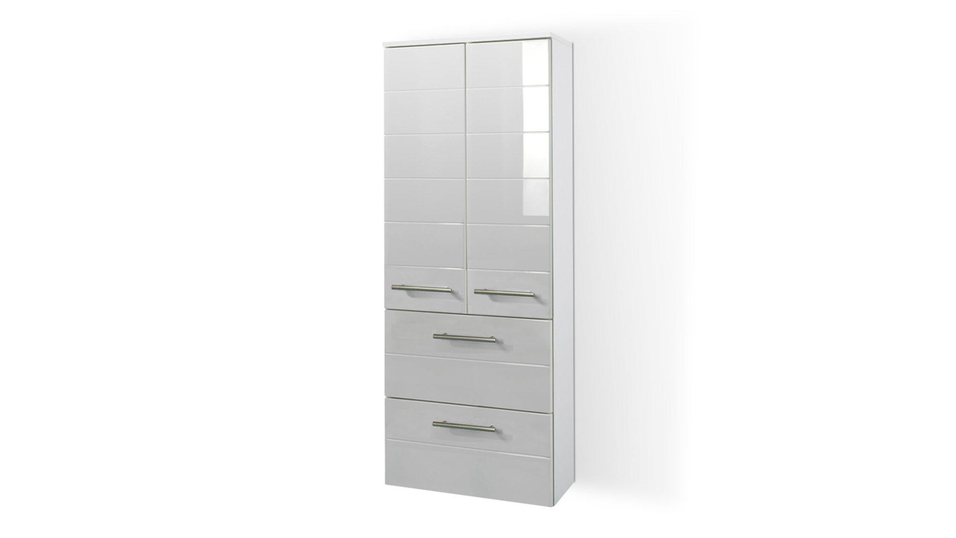 Badschrank bzw. Midischrank Rimini als Badezimmermöbel , weiße ...