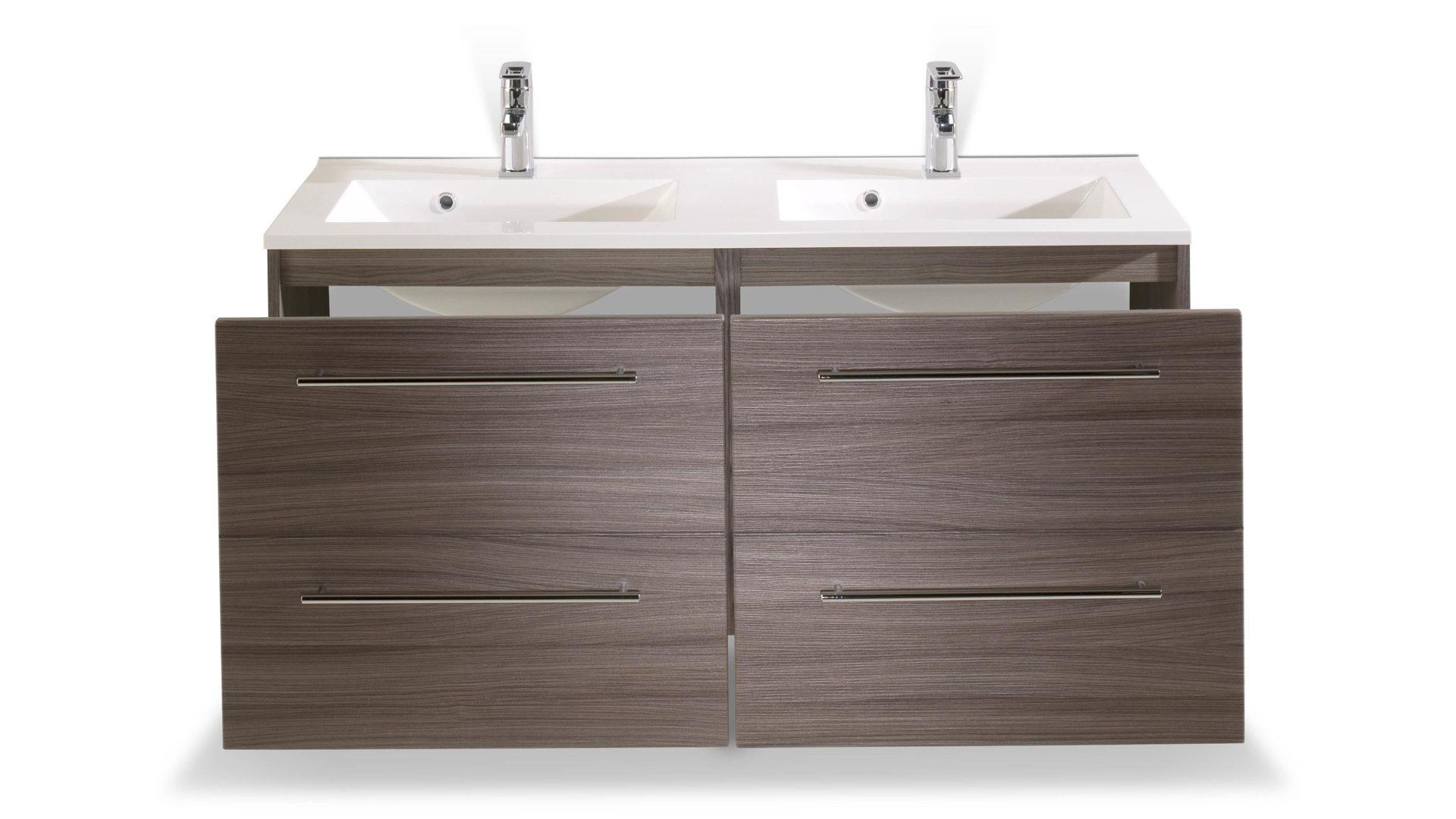 Waschtisch-Set Mailand, ein Badmöbel mit Komfort, dunkel ...